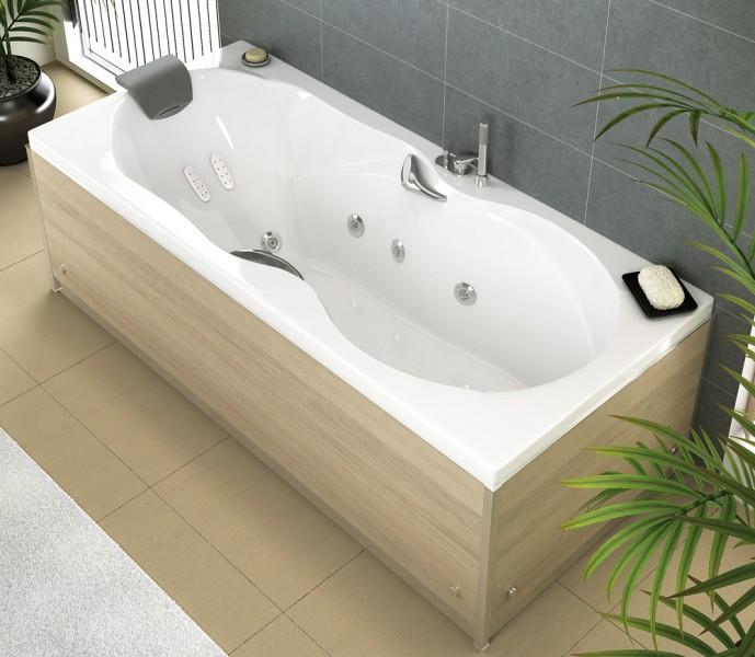 Les baignoires le guide du chauffage individuel for Baignoire balneo rectangulaire